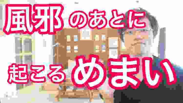 【大阪 めまい】風邪の後に起こるめまいの理由|大阪府高石市の自律神経専門整体院 natura-ナチュラ-