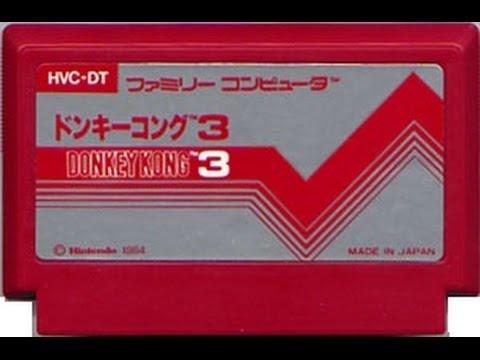 [ゲーム動画]  ドンキーコング3 OP~最終面 (1984年 ファミコン) 【NES Longplay Donkey Kong 3 (Full Games)】